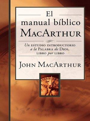 cover image of El manual bíblico MacArthur