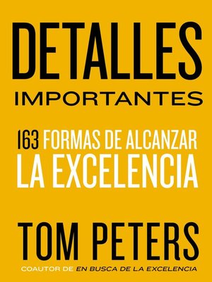 cover image of Detalles importantes