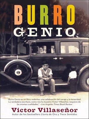 cover image of Burro Genio