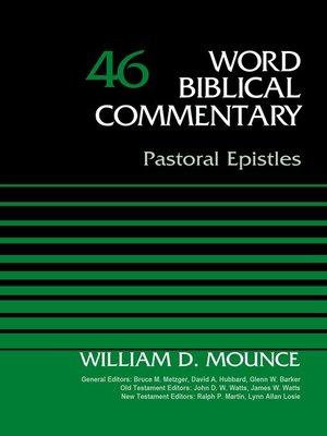cover image of Pastoral Epistles, Volume 46