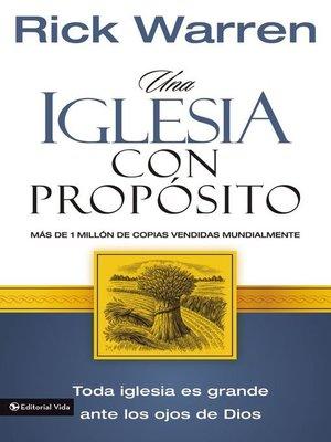 cover image of Una Iglesia con propósito