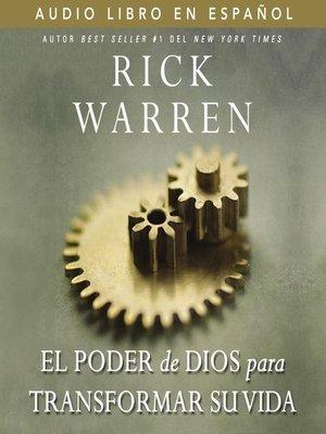 cover image of El poder de Dios para transformar su vida