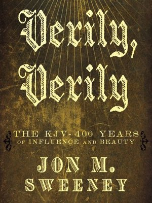 cover image of Verily, Verily