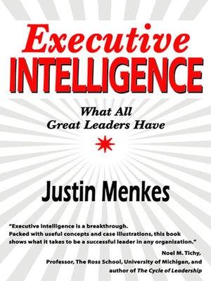 cover image of Executive Intelligence