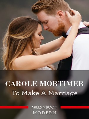 cover image of To Make a Marriage