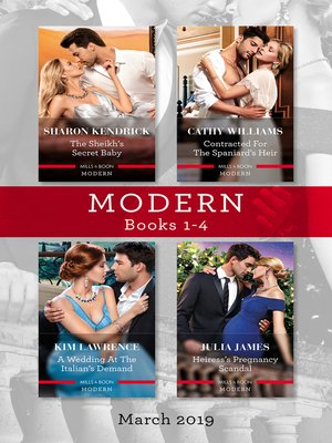 cover image of Modern Box Set 1-4/The Sheikh's Secret Baby/Contracted for the Spaniard's Heir/A Wedding at the Italian's Demand/Heiress's Pregnancy S