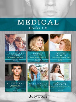 cover image of The Army Doc's Baby Secret / A Nurse to Tame the ER Doc / Saved by Their One-Night Baby / Redeeming Her Brooding Surgeon / A Nurse and a Pup to Heal