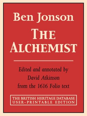 ben jonson · rakuten ebooks audiobooks and  the alchemist british