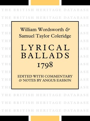 cover image of Lyrical Ballads