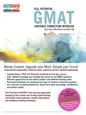 Full potential gmat sentence correction intensive by bara sapir full potential gmat sentence correction intensive fandeluxe Image collections