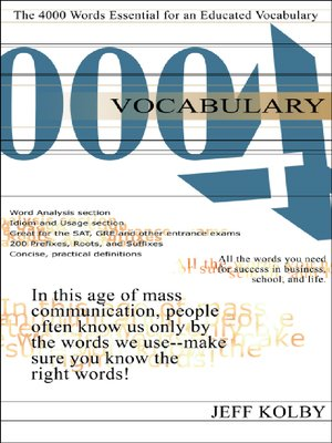 cover image of Vocabulary 4000