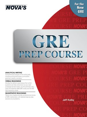 cover image of GRE Prep Course