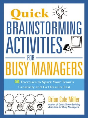 cover image of Quick Brainstorming Activities for Busy Managers