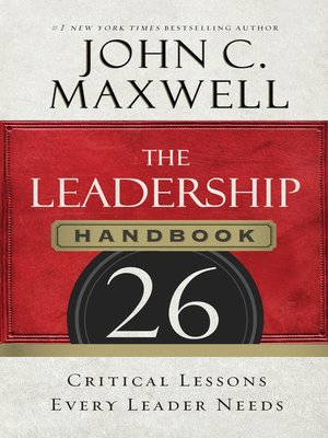 cover image of The Leadership Handbook