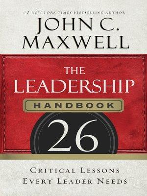 cover image of The Leadership Handbook