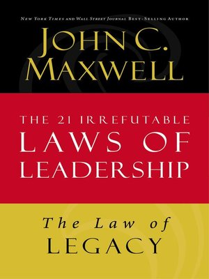 cover image of The Law of Legacy