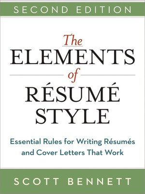 cover image of The Elements of Resume Style