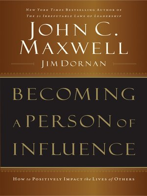cover image of Becoming a Person of Influence