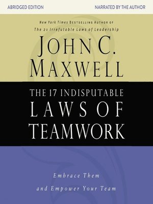 cover image of The 17 Indisputable Laws of Teamwork