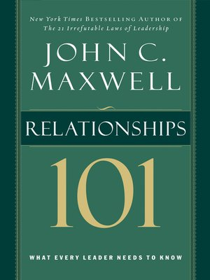 cover image of Relationships 101