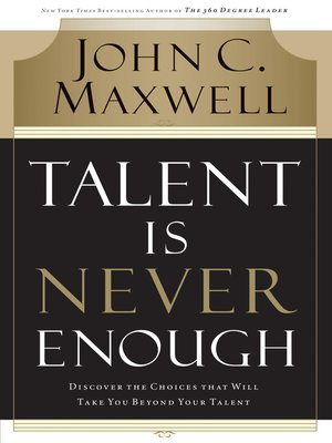 cover image of Talent Is Never Enough