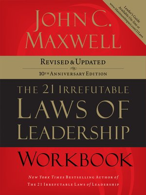 cover image of The 21 Irrefutable Laws of Leadership Workbook