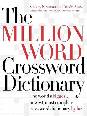 cover image of The Million Word Crossword Dictionary