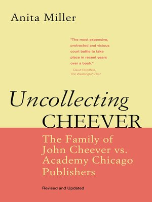 cover image of Uncollecting Cheever