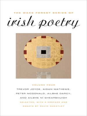 cover image of The Wake Forest Series of Irish Poetry, Volume IV