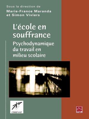 cover image of L'école en souffrance
