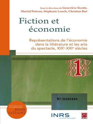 cover image of Fiction et économie