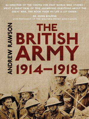 cover image of The British Army 1914-1918