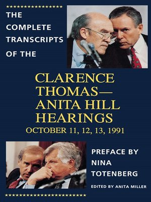 cover image of The Complete Transcripts of the Clarence Thomas--Anita Hill Hearings