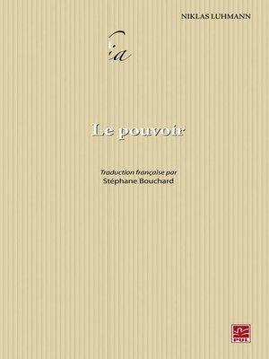 cover image of Le pouvoir