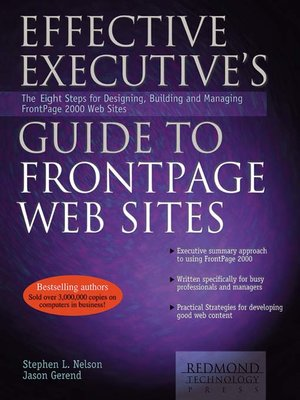 cover image of Effective Executive's Guide to FrontPage Web Sites