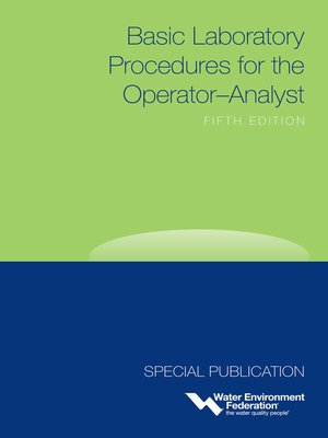 cover image of Basic Laboratory Procedures for the Operator-Analyst