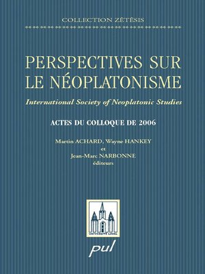 cover image of Perspectives sur le néoplatonisme