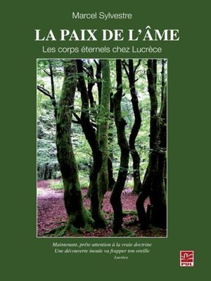 cover image of La paix de l'âme. Les corps éternels chez Lucrèce