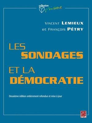 cover image of Les sondages et la démocratie