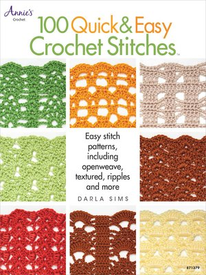 cover image of 100 Quick & Easy Crochet Stitches