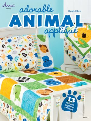 cover image of Adorable Animal Applique