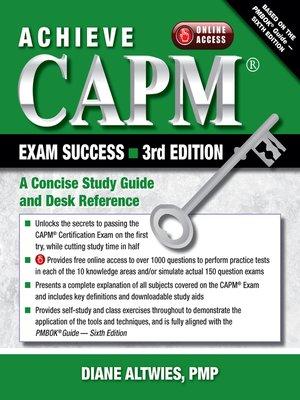 cover image of Achieve CAPM Exam Success