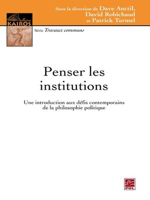 cover image of Penser les institutions