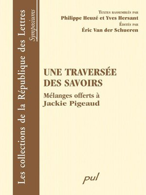 cover image of Une traversée des savoirs