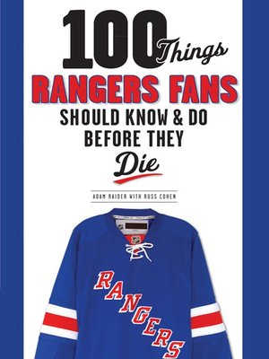 cover image of 100 Things Rangers Fans Should Know & Do Before They Die