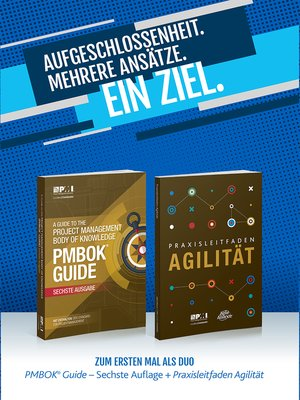cover image of A Guide to the Project Management Body of Knowledge (PMBOK(R) Guide- / Agile Practice Guide Bundle (GERMAN)