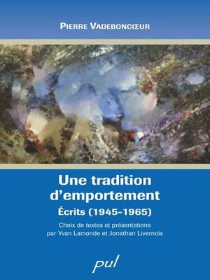 cover image of Une tradition d'emportement