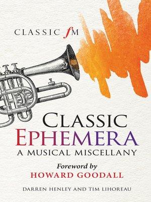cover image of Classic Ephemera