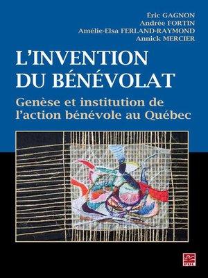 cover image of Invention du bénévolat L'