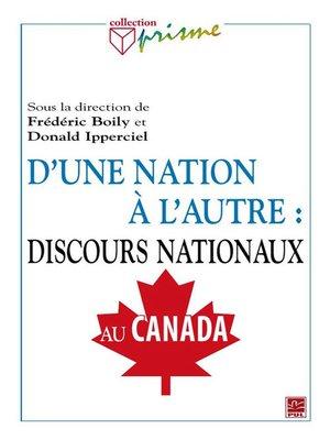 cover image of D'une nation à l'autre